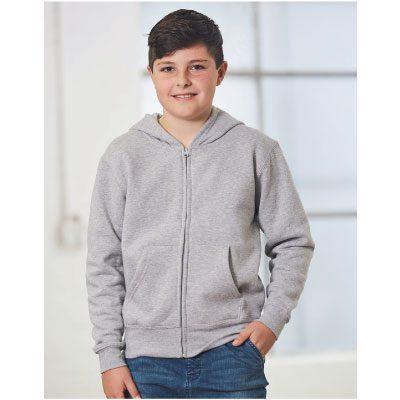 Kids' full zip fleecy hoodie